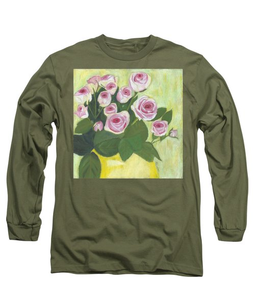 15 Pinks Long Sleeve T-Shirt by Arlene Crafton