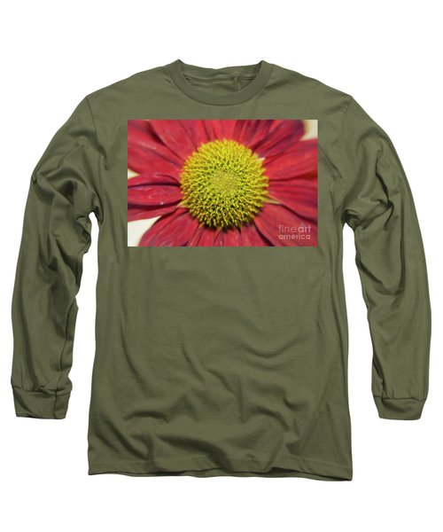 Red Flower Long Sleeve T-Shirt by Elvira Ladocki