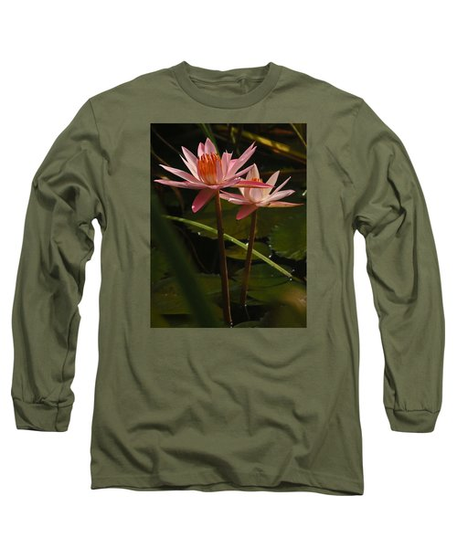 Water Lilly Long Sleeve T-Shirt by Ronald Olivier