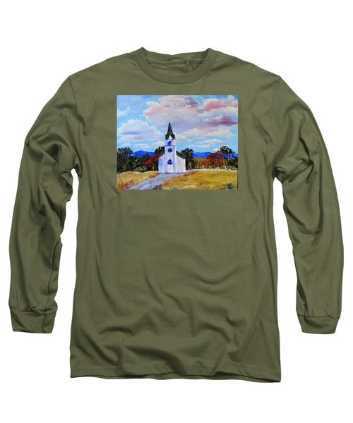 #17 St. Johns Historic Church On Hwy 69 Long Sleeve T-Shirt