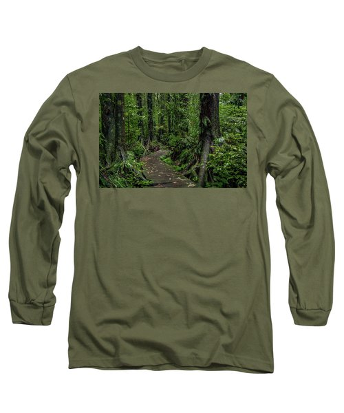 Long Sleeve T-Shirt featuring the photograph Forest Boardwalk by Les Cunliffe