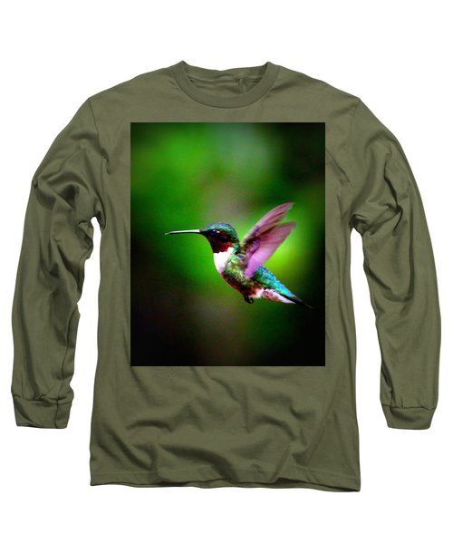 1846-007 - Ruby-throated Hummingbird Long Sleeve T-Shirt