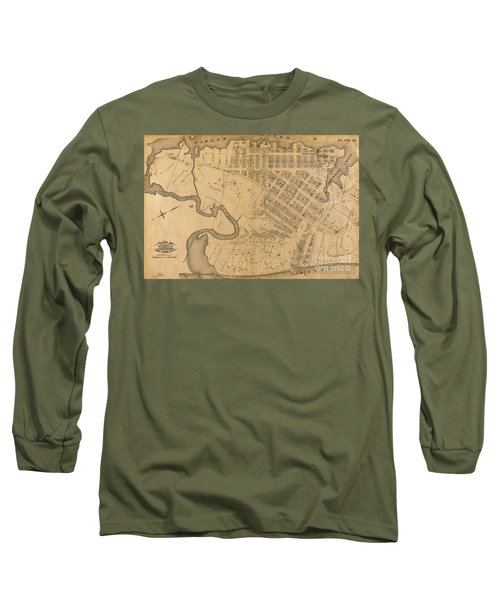 Long Sleeve T-Shirt featuring the photograph 1885 Inwood Map  by Cole Thompson