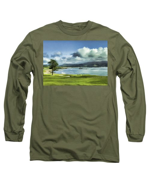 18th Hole Pebble Beach 2 Long Sleeve T-Shirt