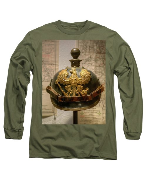 1915 Prussian Artillery Spiked Pickelhaube Helmut Long Sleeve T-Shirt
