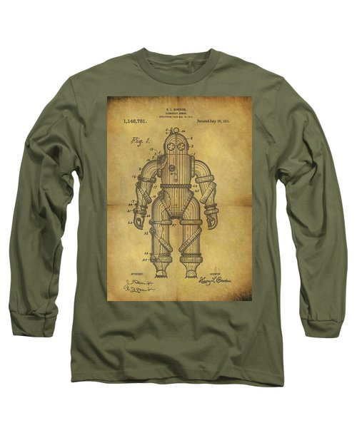 1915 Underwater Armor Suit Patent Long Sleeve T-Shirt