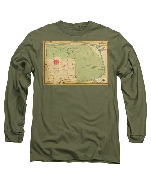 Long Sleeve T-Shirt featuring the photograph 1923 Inwood Hill Map  by Cole Thompson