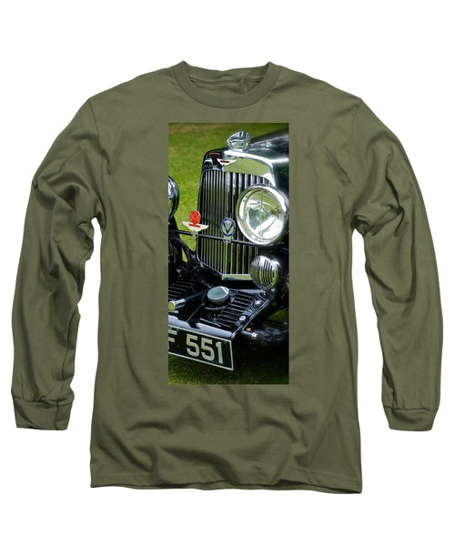 Long Sleeve T-Shirt featuring the photograph 1930s Aston Martin Front Grille Detail by John Colley