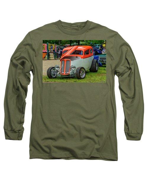 1933 Pontiac Sedan Street Rod Long Sleeve T-Shirt by Ken Morris