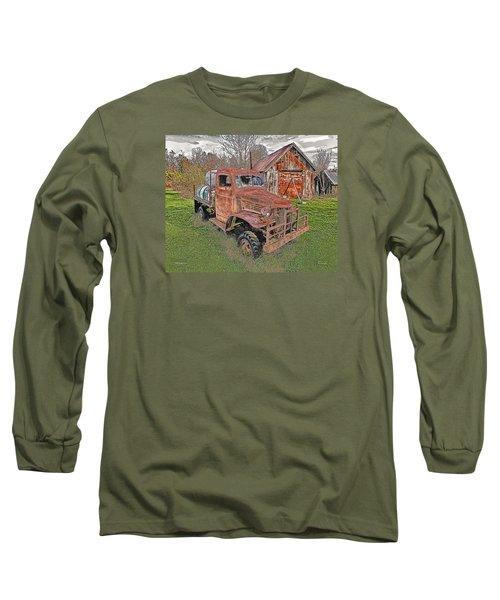 1941 Dodge Truck #2 Long Sleeve T-Shirt by Mark Allen