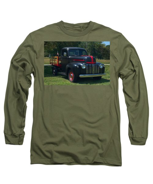 1946 Ford Stake Side Truck Long Sleeve T-Shirt by Tim McCullough