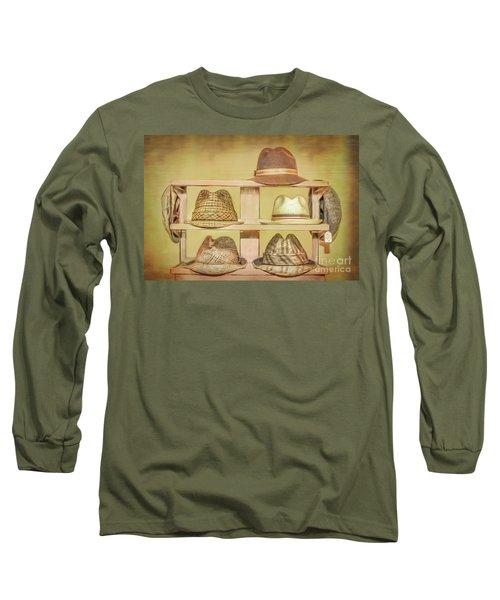 1950s Hats Long Sleeve T-Shirt