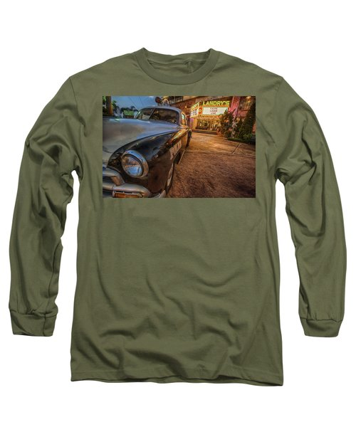 Long Sleeve T-Shirt featuring the tapestry - textile 1952 Chevy  by Kathy Adams Clark