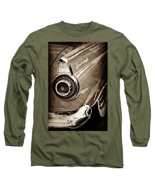 Long Sleeve T-Shirt featuring the photograph 1956 Ford Thunderbird Taillight Emblem -0382s by Jill Reger