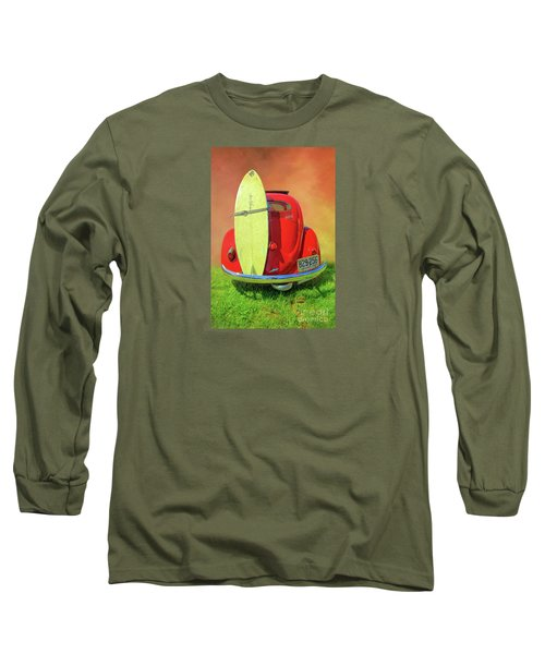 1957 Beetle Oval Long Sleeve T-Shirt by Marion Johnson
