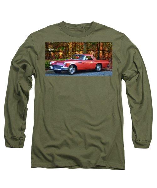 1957 Thunderbird  003 Long Sleeve T-Shirt by George Bostian