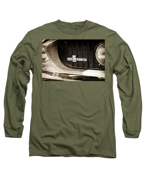 Long Sleeve T-Shirt featuring the photograph 1967 Ford Gt 350 Shelby Clone Grille Emblem -0759s by Jill Reger