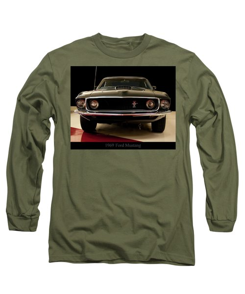 Long Sleeve T-Shirt featuring the digital art 1969 Ford Mustang by Chris Flees