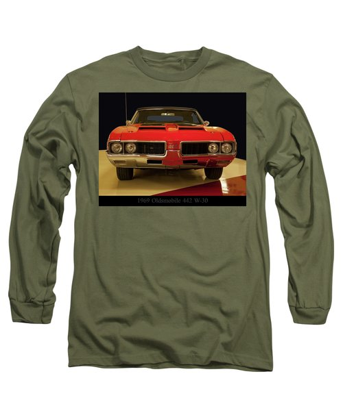 Long Sleeve T-Shirt featuring the photograph 1969 Oldsmobile 442 W-30 by Chris Flees