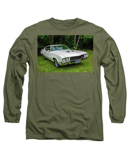 1971 Buick Skylark Gs Long Sleeve T-Shirt by Ken Morris