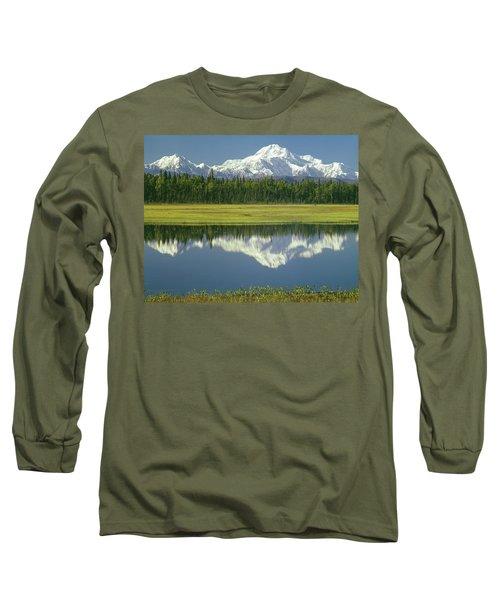 1m1325 Mt. Hunter And Mt. Denali Long Sleeve T-Shirt