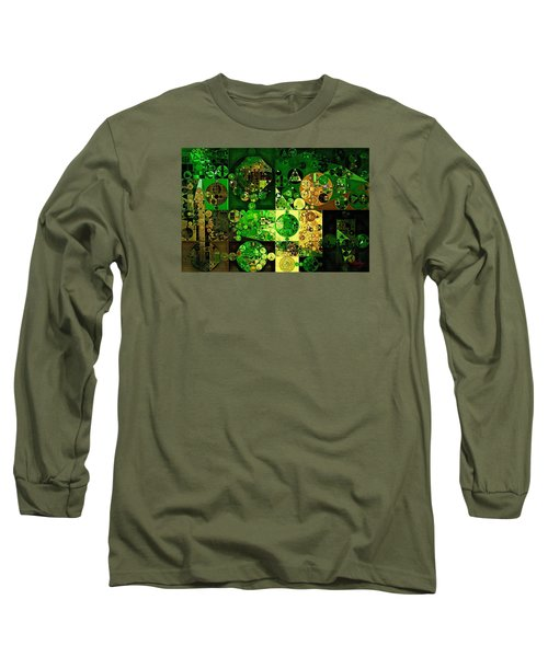 Long Sleeve T-Shirt featuring the digital art Abstract Painting - Dell by Vitaliy Gladkiy
