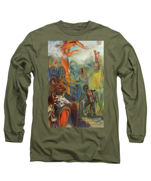 Ancestor Dance Long Sleeve T-Shirt by Daun Soden-Greene