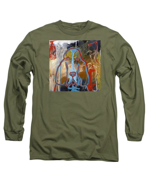 Long Sleeve T-Shirt featuring the painting Basset Hound  by Leanne WILKES