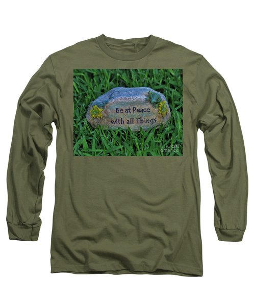 Long Sleeve T-Shirt featuring the photograph 2- Be At Peace by Joseph Keane