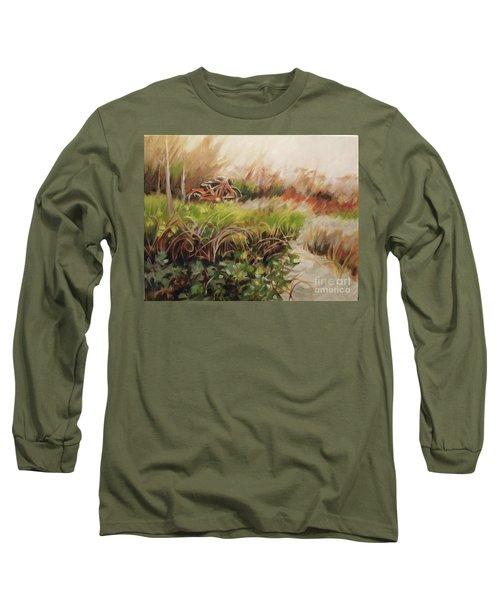 Beach Bikes Long Sleeve T-Shirt by Mary Hubley