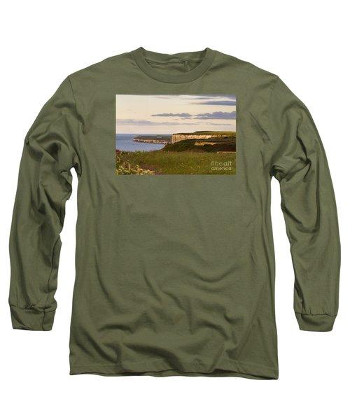 Bempton Cliffs Long Sleeve T-Shirt by David  Hollingworth