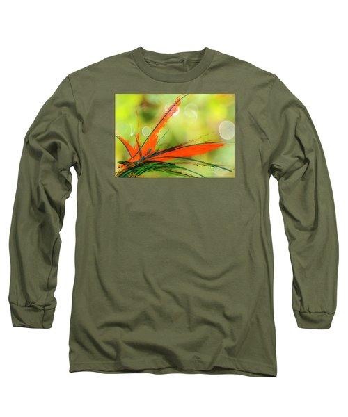 Bird Of Paradise 2 Long Sleeve T-Shirt by Kume Bryant