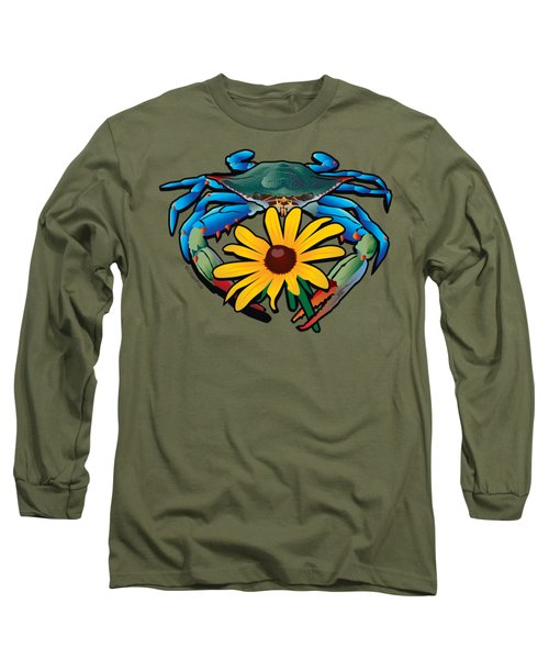 Blue Crab Maryland Black-eyed Susan Long Sleeve T-Shirt