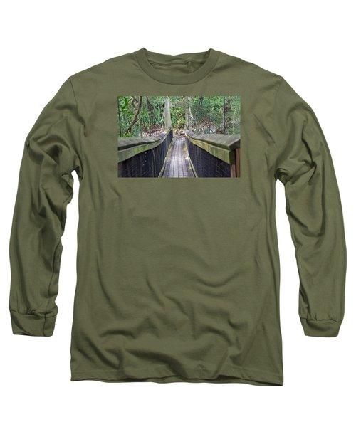 Bridge To Paradise Long Sleeve T-Shirt by Kenneth Albin