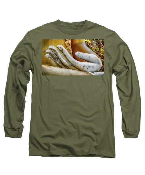 Long Sleeve T-Shirt featuring the photograph Buddha's Hand by Adrian Evans