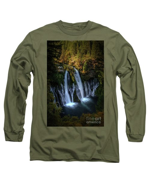Long Sleeve T-Shirt featuring the photograph Burney Falls by Kelly Wade