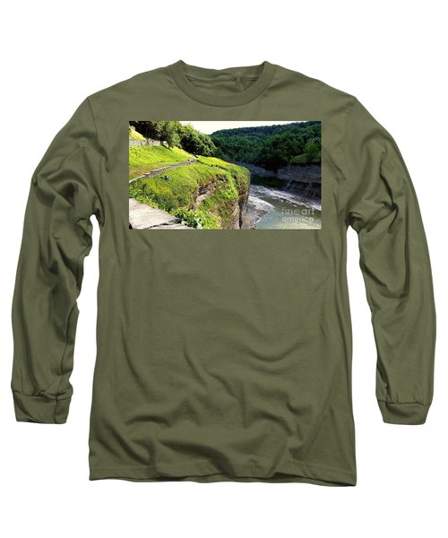 Long Sleeve T-Shirt featuring the photograph Canyon  by Raymond Earley
