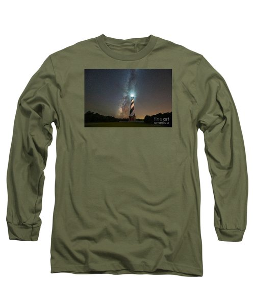 Cape Hatteras Lighthouse Milky Way Long Sleeve T-Shirt by Michael Ver Sprill