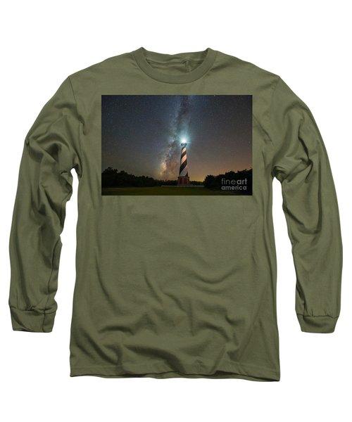 Cape Hatteras Lighthouse Milky Way Long Sleeve T-Shirt