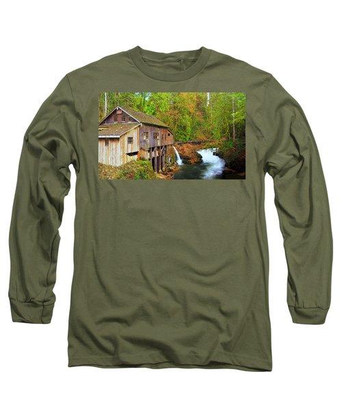 Cedar Creek Grist Mill Long Sleeve T-Shirt by Steve Warnstaff