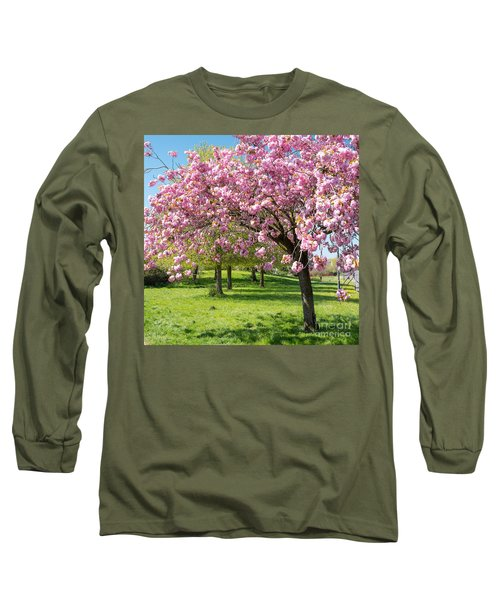 Cherry Blossom Tree Long Sleeve T-Shirt by Colin Rayner