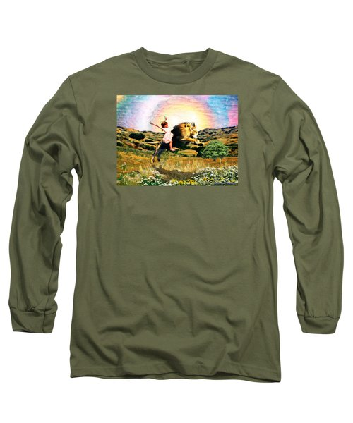 Long Sleeve T-Shirt featuring the digital art Child Like Faith by Dolores Develde