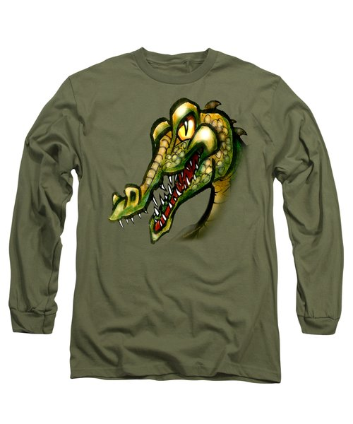 Crocodile Long Sleeve T-Shirt by Kevin Middleton