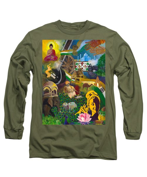 Discover India Long Sleeve T-Shirt