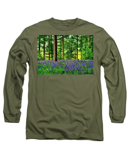 English Bluebell Wood Long Sleeve T-Shirt