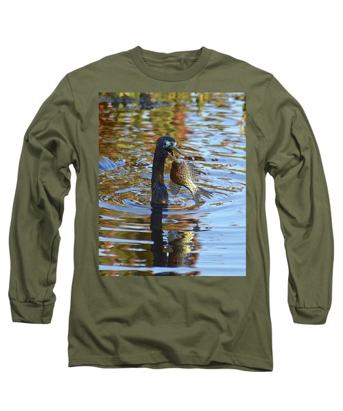 Fish, It's What's For Dinner Long Sleeve T-Shirt by Carol Bradley