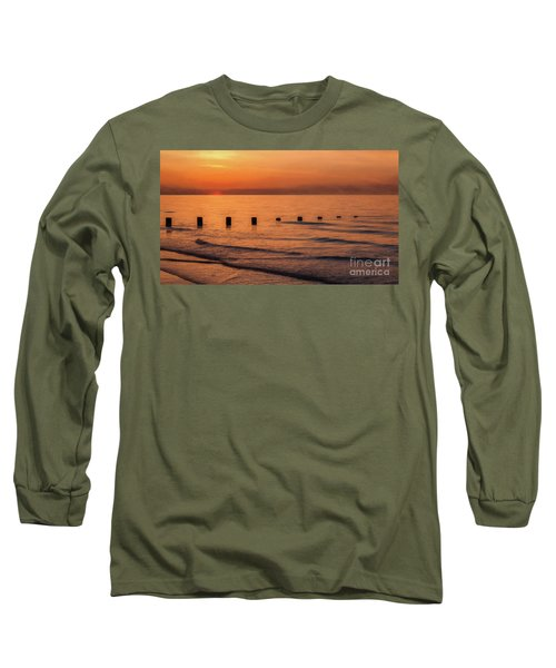 Long Sleeve T-Shirt featuring the photograph Golden Sunset by Adrian Evans