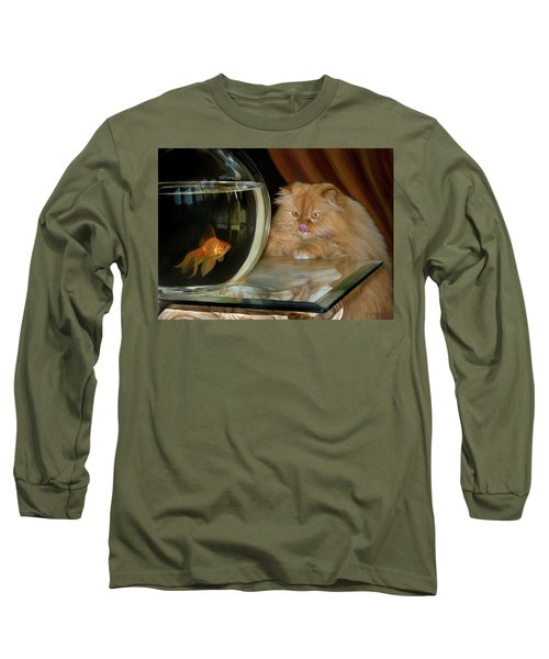 Long Sleeve T-Shirt featuring the digital art I Love Sushi by Thanh Thuy Nguyen