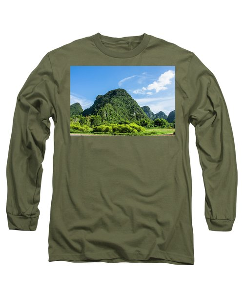 Karst Mountains Scenery Long Sleeve T-Shirt
