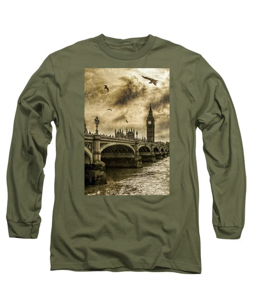 London Long Sleeve T-Shirt by Jaroslaw Grudzinski